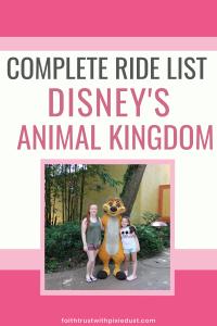 List of animal kingdom rides