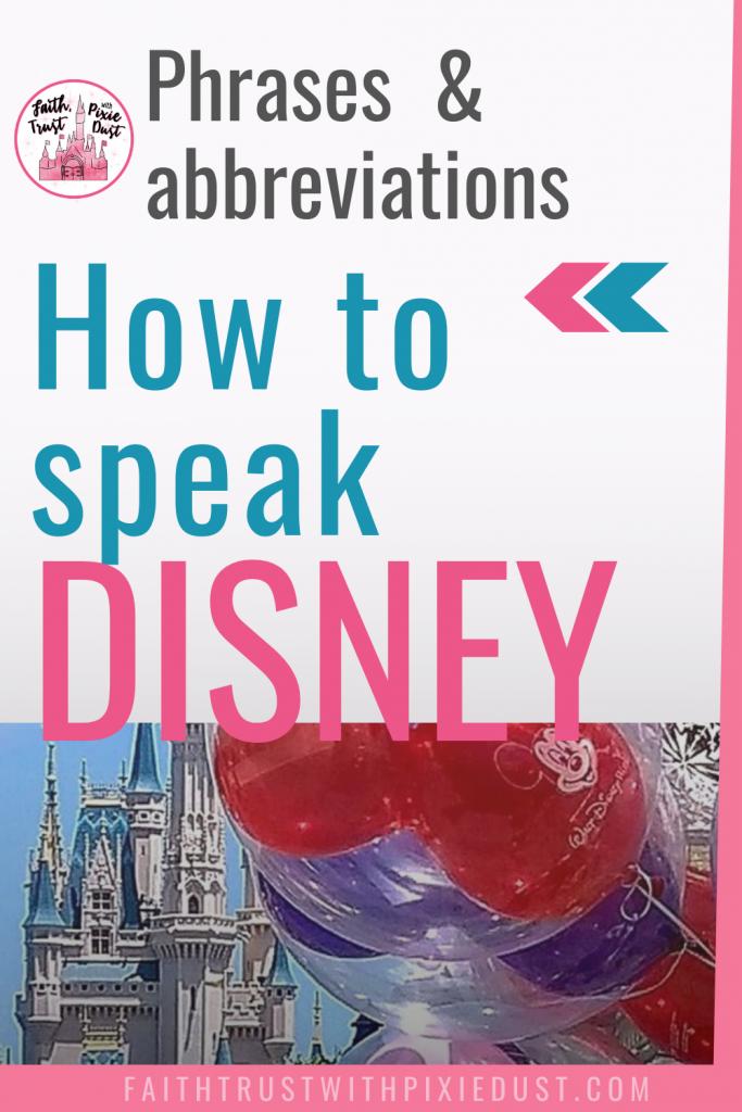 How to speak Disney