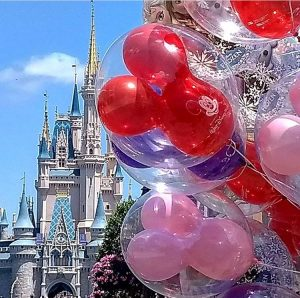 Disney Magic Kingdom - with balloons