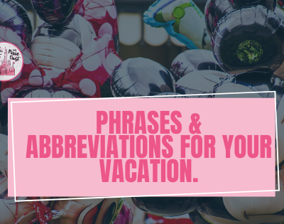 Phrases & Abbreviations