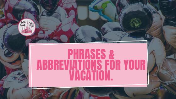 Phrases & Abbreviations