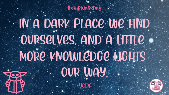In a dark place - Yoda Quote