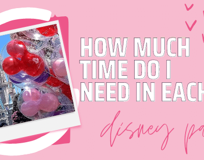 How much time do I spend in each disney park